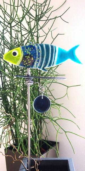 Glasstele Fisch