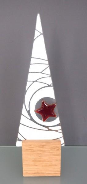 Glasdeko Baum-Dreieck