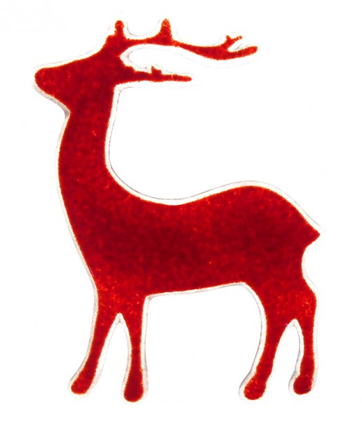 Fusingglas Hirsch stehend 12cm