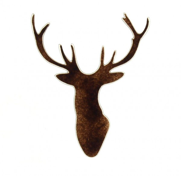 Fusingglas Hirschkopf 18 cm