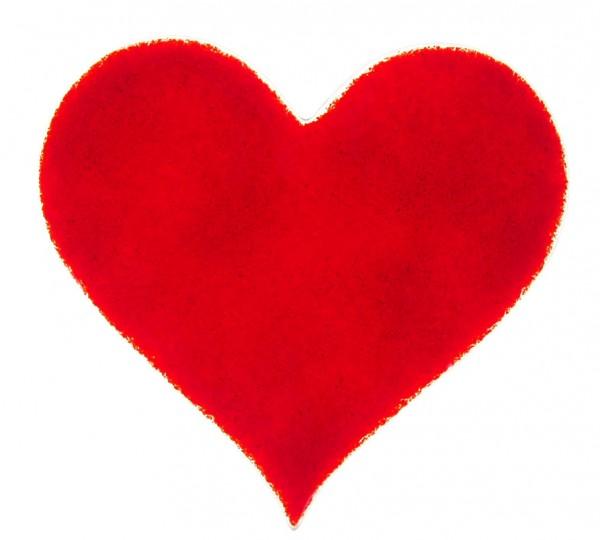 Fusingglas 15 cm Herz
