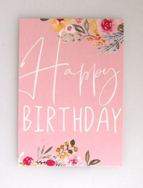 "Aquarellkunst Postkarte ""Happy Birthday"""
