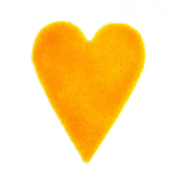 Fusingglas 10,5 x 13 cm Herz länglich