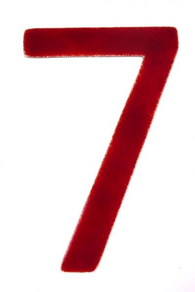 """Hausnummer aus Glas """"7"""""""
