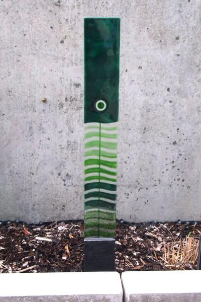 Erdspieß Fusingglas grün / groß