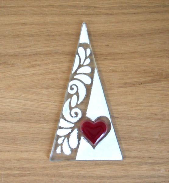Fusingglas Dreieck 8 x 15 cm
