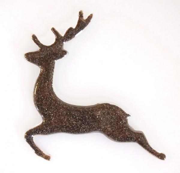 Fusingglas Hirsch springend 11 cm