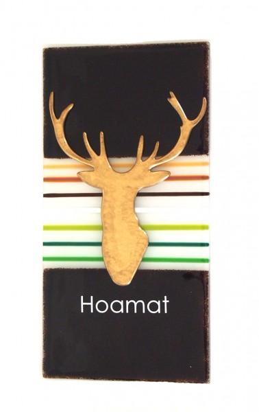 """Fusingglas 15 x 30 cm """"Hoamat"""""""