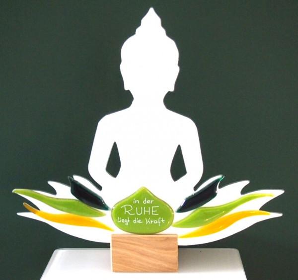 Glasdeko Buddha In der Ruhe liegt die Kraft