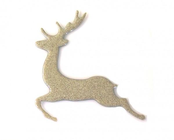 Fusingglas Hirsch springend 22 cm