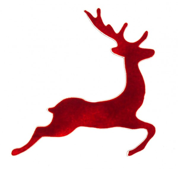 Fusingglas Hirsch springend 21 cm