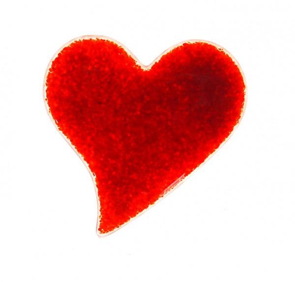 Fusingglas 6 cm Herz geschwungen