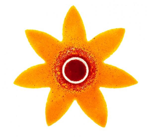 Fusingglas 20 cm Blume