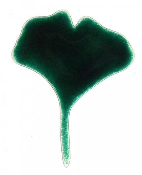 Fusingglas Ginkgoblatt klein