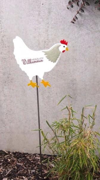 Gartenstecker Huhn groß