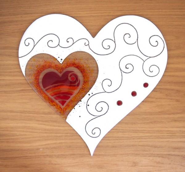 Fusingglas 40 cm Herz