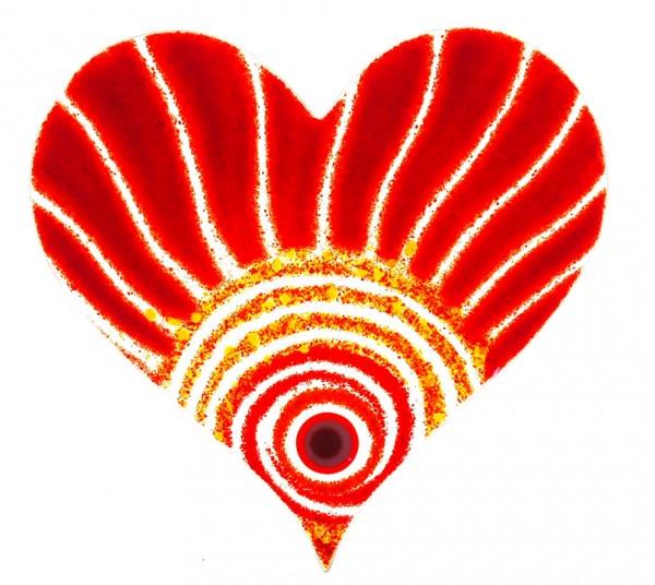 Fusingglas 20 cm Herz