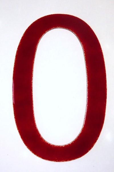"""Hausnummer aus Glas """"0"""""""