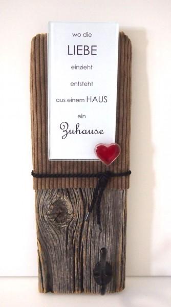 "Glasdeko ""Zuhause"""