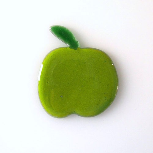 Fusingglas Motiv Apfel 8 cm