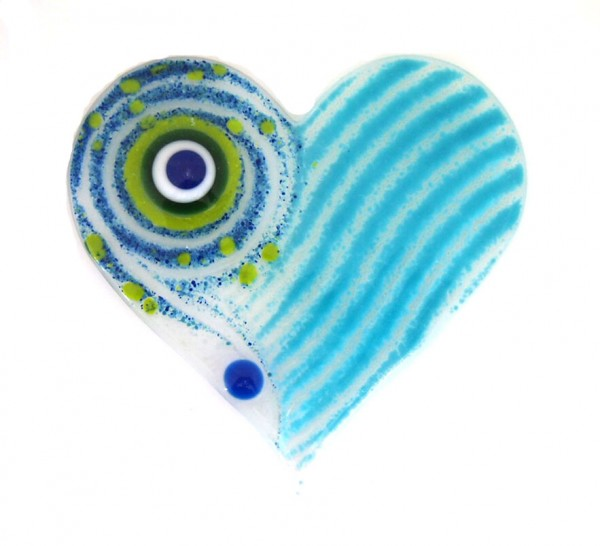 Fusingglas 12 cm Herz