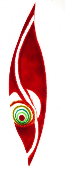 Fusingglas Sichel groß
