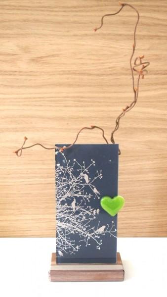 Glasobjekt Baum mit Vögel