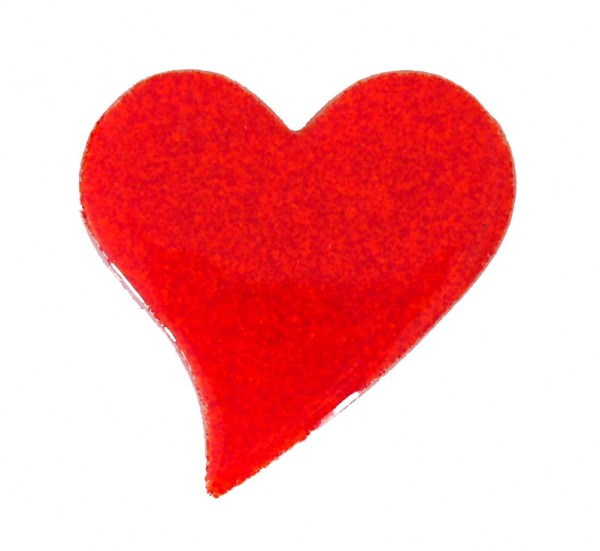 Fusingglas 10 cm Herz geschwungen