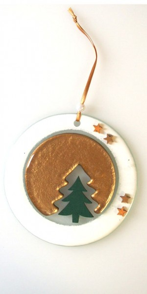 Fusingglas Weihnachtsanhänger