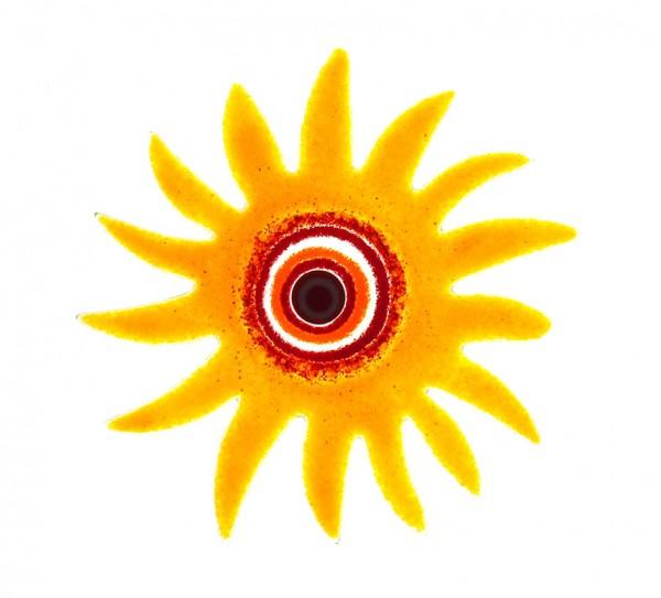 Fusingglas 20 cm Sonne