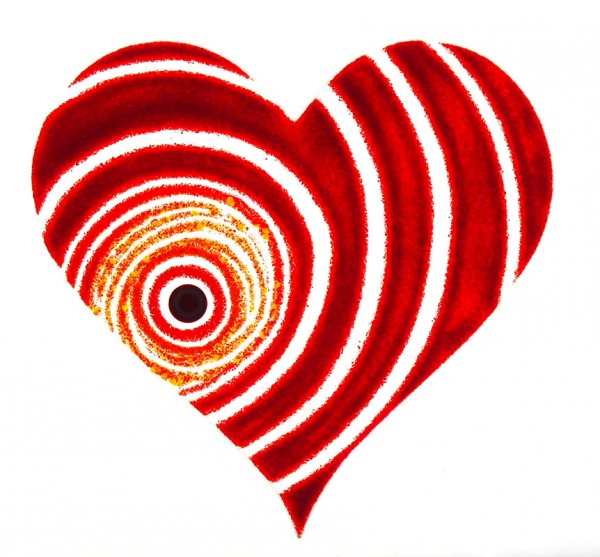 Fusingglas 30 cm Herz