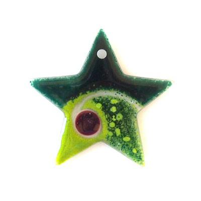 Fusingglas Stern 10 cm / mit Loch