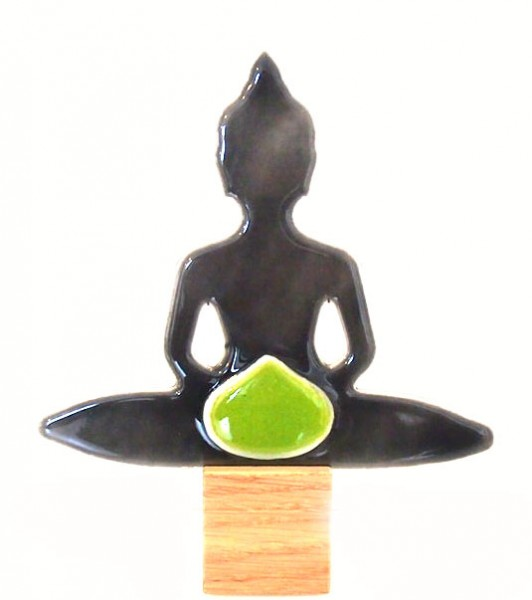Glasdeko Buddha