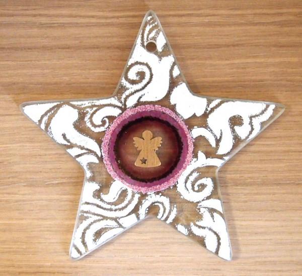 Fusingglas Stern 15 cm / mit Loch