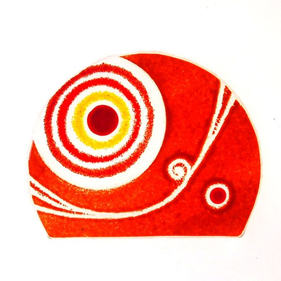 Fusingglas abgeschnittener Kreis 15 cm