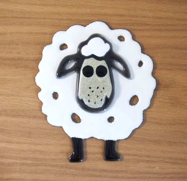 Fusingglas Schaf klein
