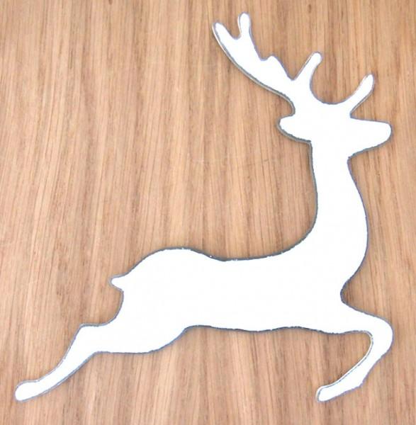 Fusingglas Hirsch springend 16 cm