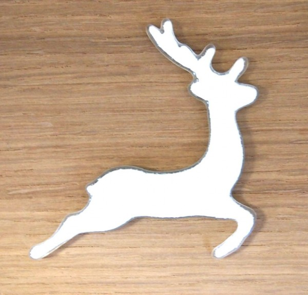 Fusingglas Hirsch springend 8 cm