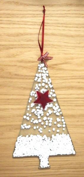Fusingglas Baum mit Stern