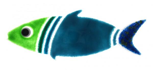 Fusingglas Fisch groß