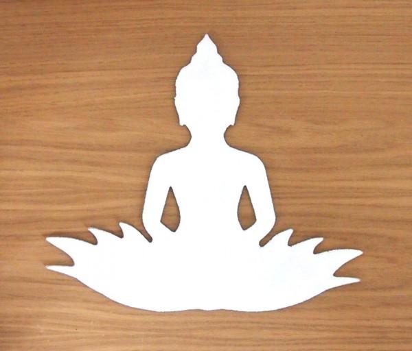 Glasdeko Buddha groß