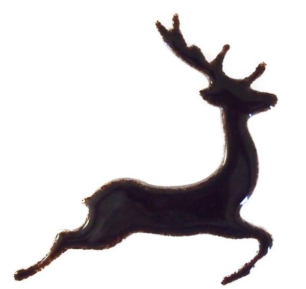 Fusingglas Hirsch springend 16cm