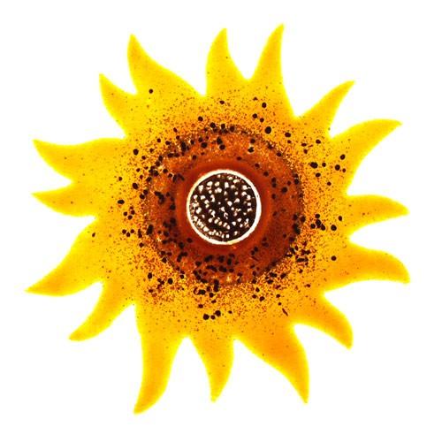 Fusingglas 30 cm Sonnenblume