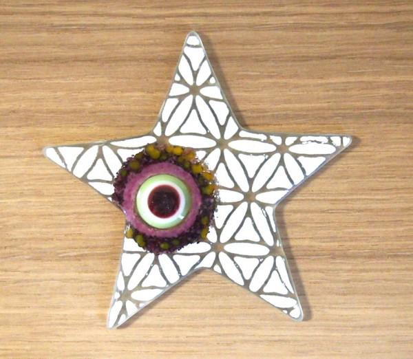 Fusingglas Stern 12 cm / ohne Loch