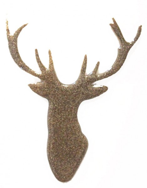 Fusingglas Hirschkopf