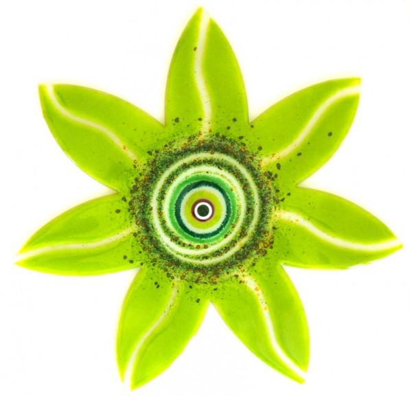 Fusingglas 40 cm Blume spitz