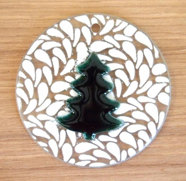 Fusingglas 10 cm / mit Loch