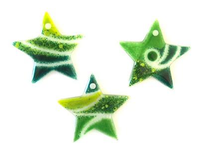 Fusingglas Sterne Set / mit Loch