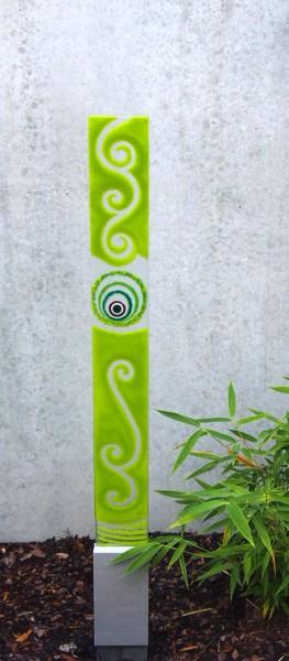 Erdspieß Fusingglas grün