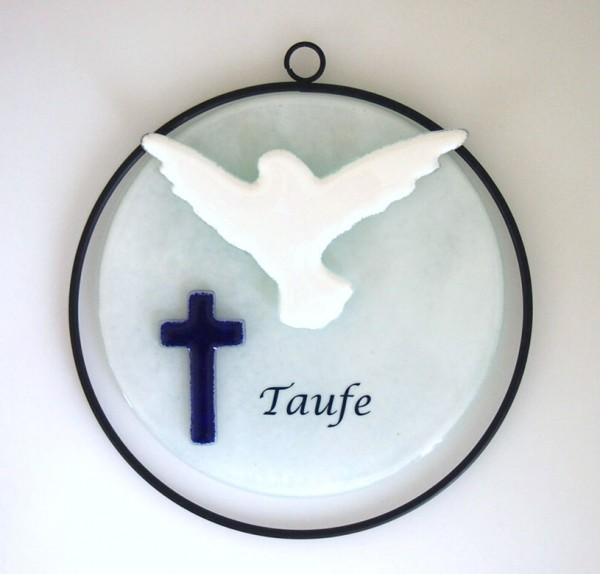 Glasobjekt Taufe